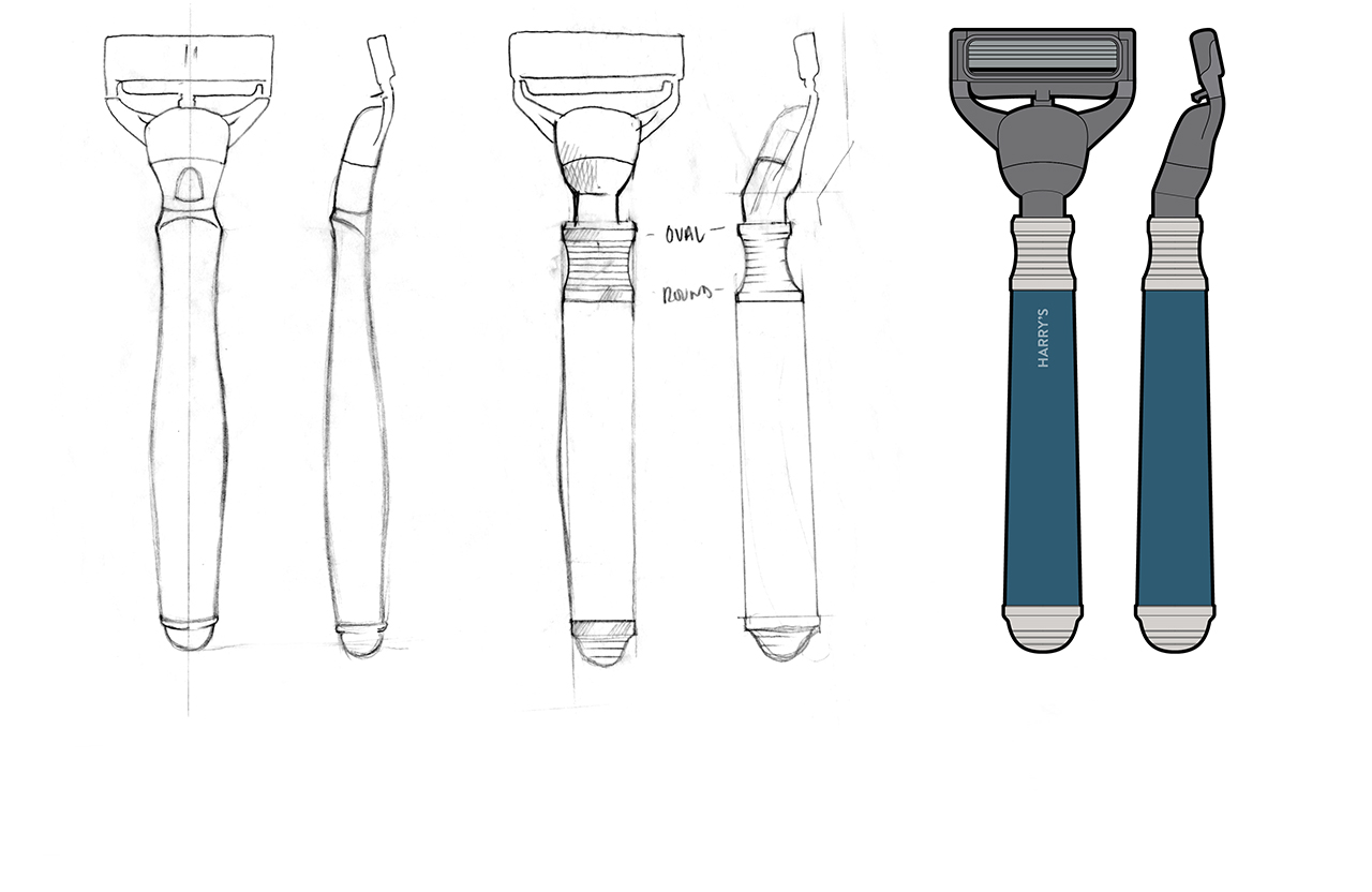 Harry's razors early designs