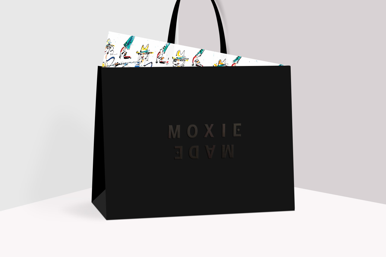 MoxieMade Shopping Bag and Tissue by Prime Studio