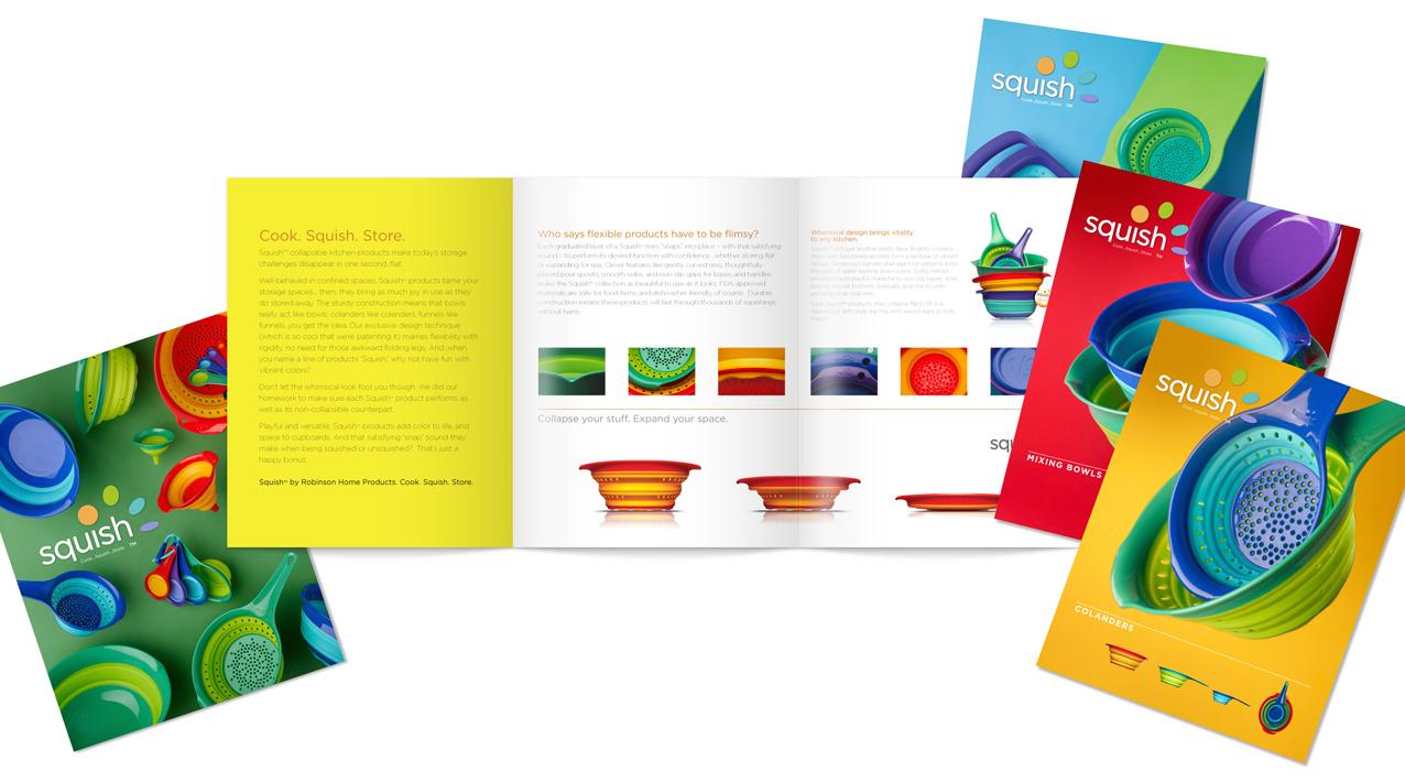Squish marketing materials graphic design